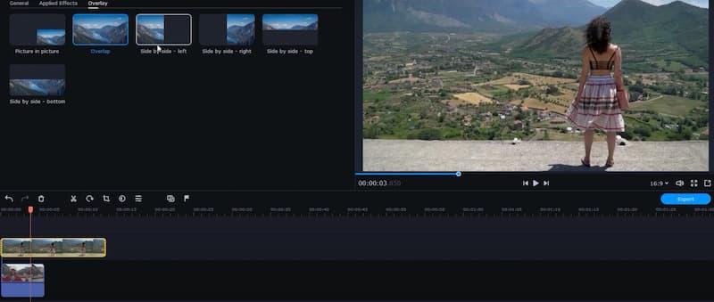 Vytvořte video na rozdělené obrazovce pomocí Movavi