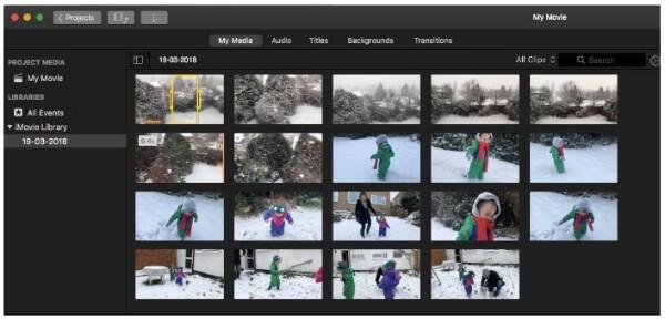 Crea un vlog su iMovie