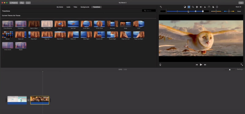 Add filter in iMovie