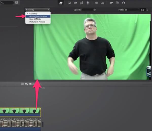 Zelená / modrá obrazovka