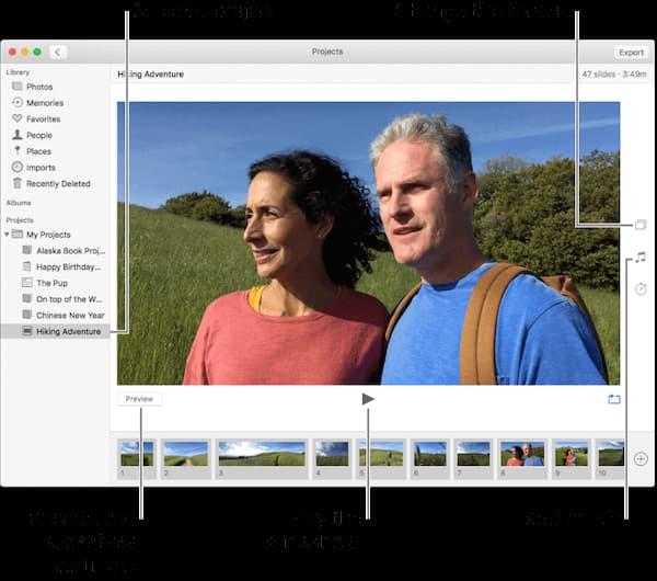 Παρουσίαση iPhoto σε Mac