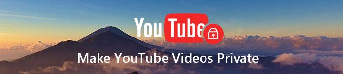 Δημιουργία απορρήτου βίντεο YouTube