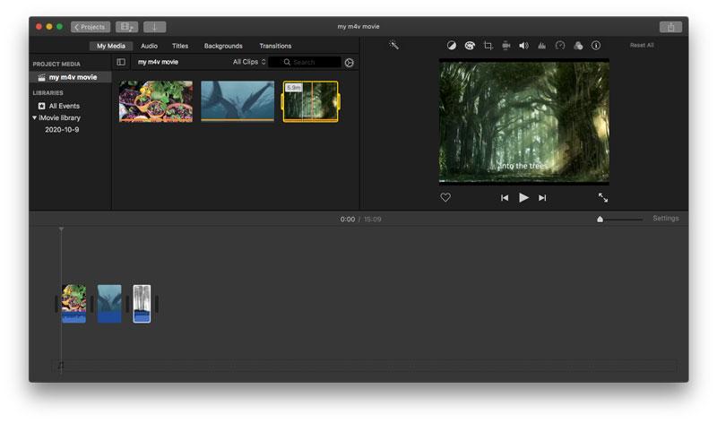 Połącz M4V z iMovie