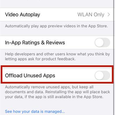 Odciąż nieużywane aplikacje