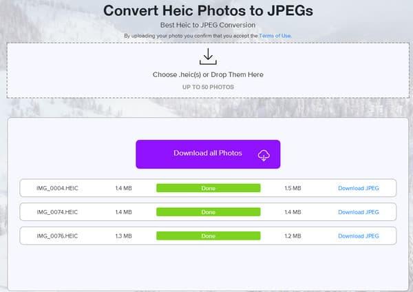 Converti HEIC in JPEG