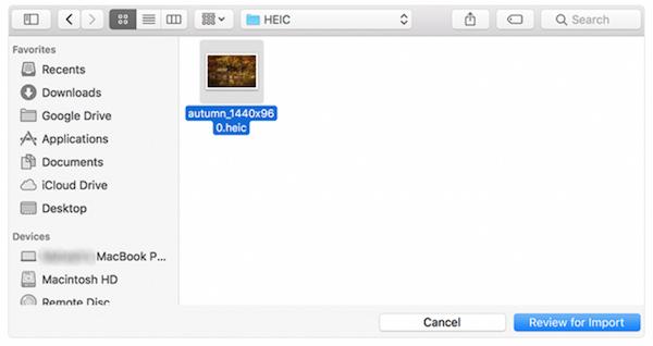 Ανοίξτε το HEIC στο MAc