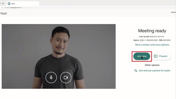 Εγγραφείτε στο Google Meet