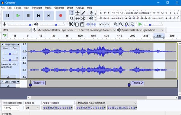 Εγγραφή θορύβου ήχου υπολογιστή