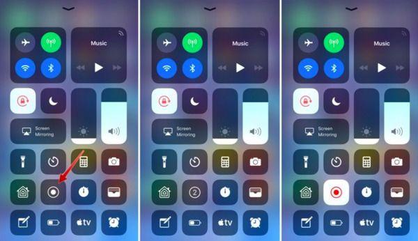 Nagrywanie ekranu iOS