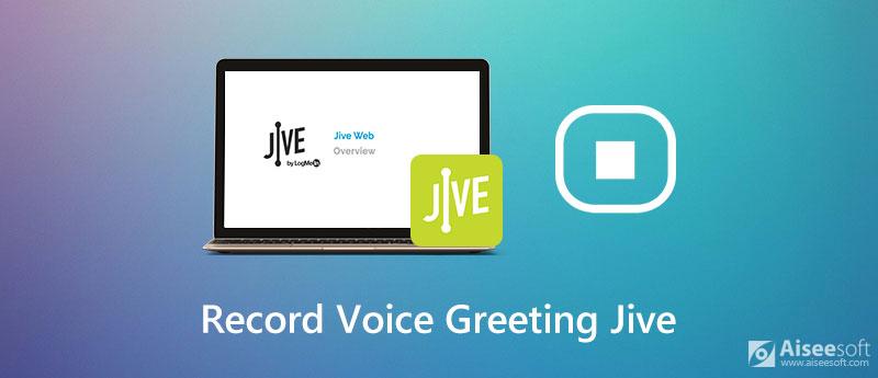 Registra il saluto vocale per Jive