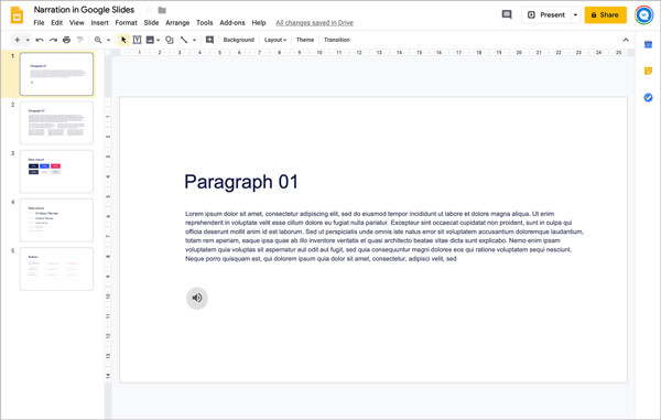 Add Audio to Google Slides