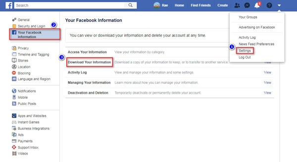 Download uw informatie