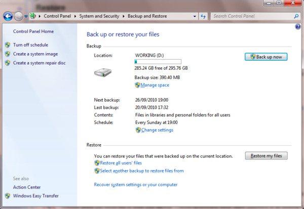 Odzyskaj kosz z kopią zapasową systemu Windows