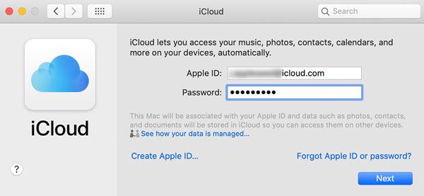 Accedi iCloud
