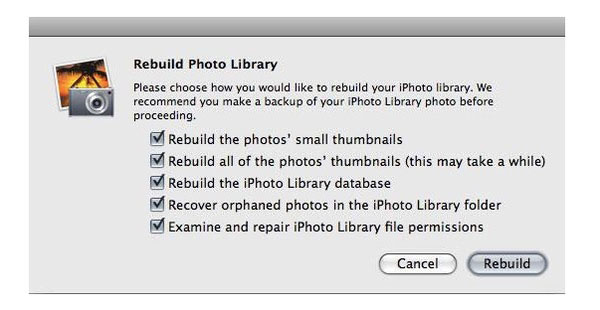Obnovení smazané knihovny iPhoto