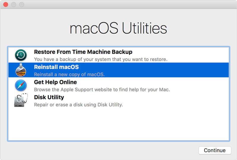 Επανεγκαταστήστε το macOS