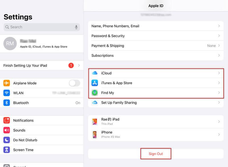 Odebrat Apple ID z iPadu