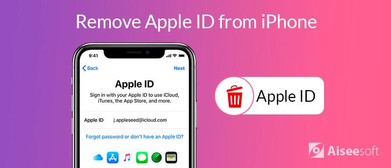 Rimuovi l'ID Apple dall'iPhone