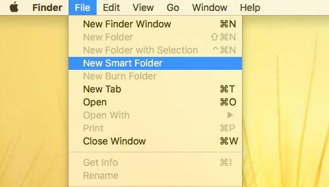 Nowy inteligentny folder
