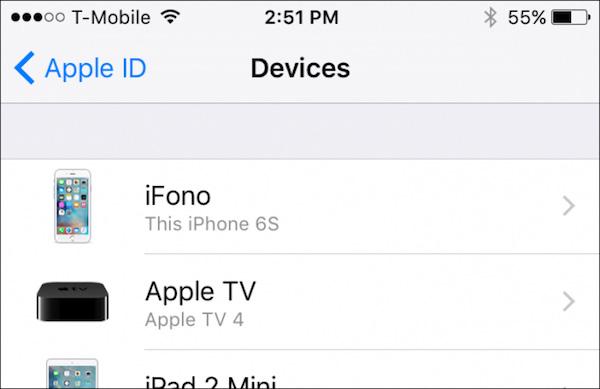 Αφαιρέστε τη συσκευή iphone από το icloud