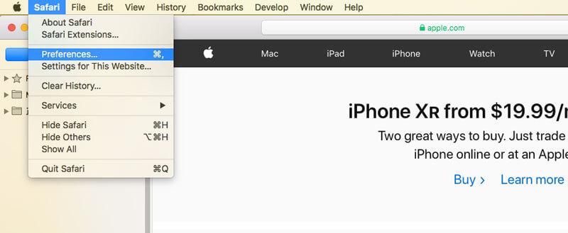 Καταργήστε το Mac Cleanup Pro από το Safari