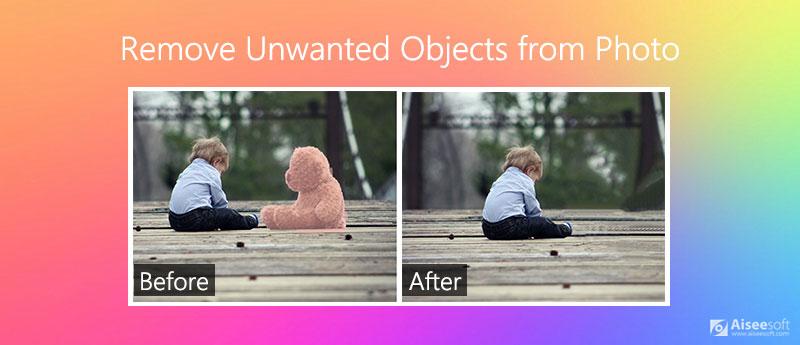 Rimuovi oggetti indesiderati dalla foto