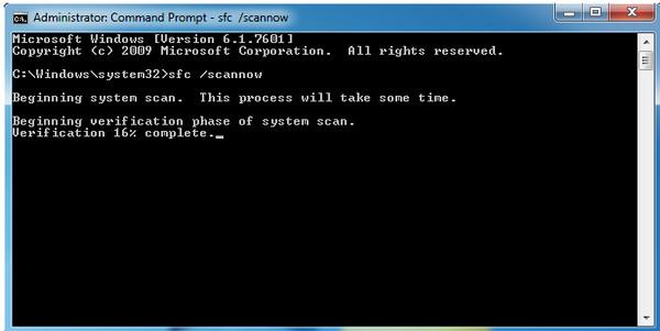 Σάρωση ελέγχου συστήματος αρχείων