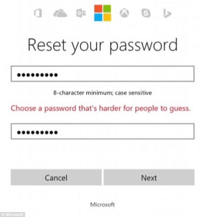 Resetta la password