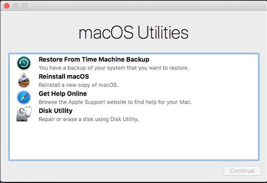 Przywróć Mac z Time Machine