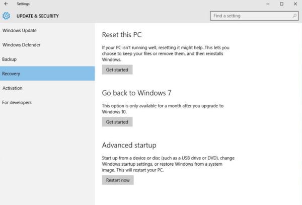 Επαναφορά προγραμμάτων στον παλιό φάκελο των Windows
