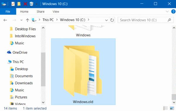 Παλιός φάκελος των Windows
