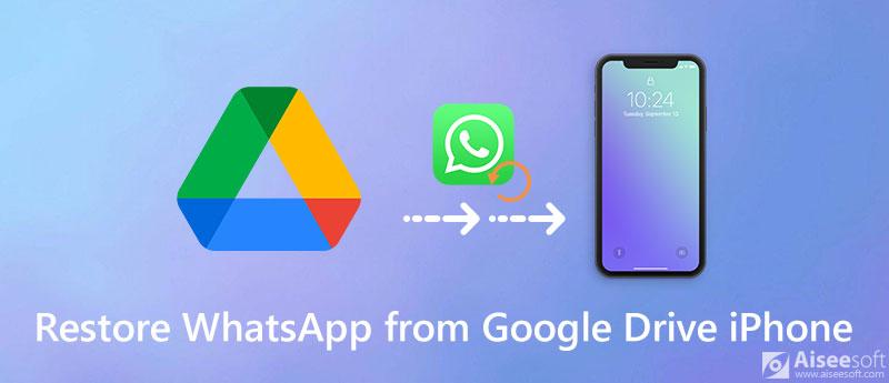 Επαναφέρετε το WhatsApp από το Google Drive στο iPhone