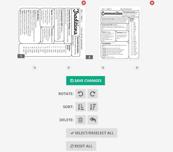Ruota il file PDF