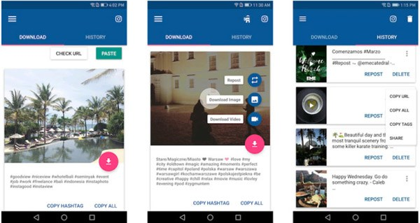 Video Downloader na Instagram