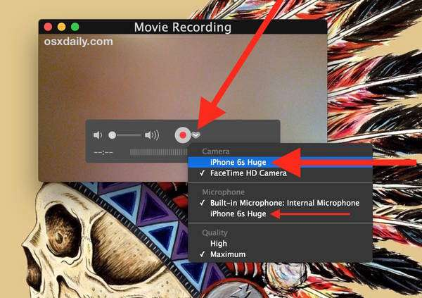 Registra lo schermo dell'iPhone su Mac