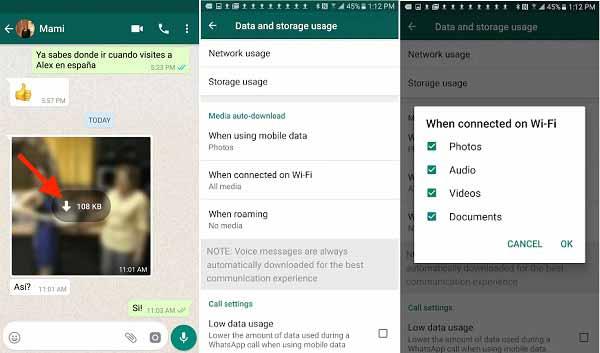 Αποθηκεύστε το WhatsApp Android