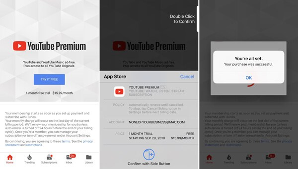 Ottieni YouTube Premium