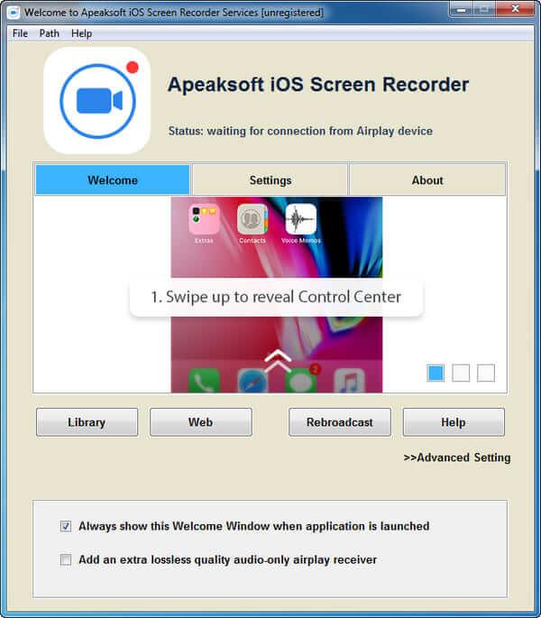 Εκκινήστε το καταγραφικό οθόνης iOS