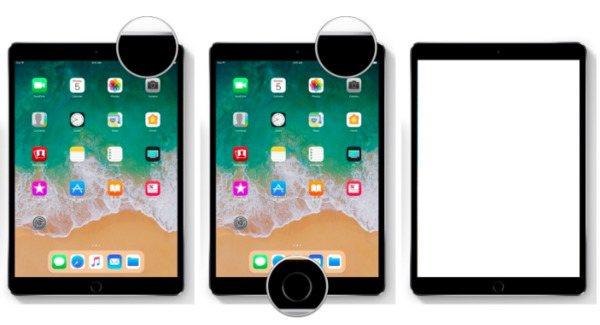 Zrzut ekranu ipad z przyciskami