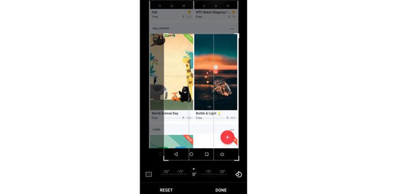 Acquisisci screenshot parziale su HTC