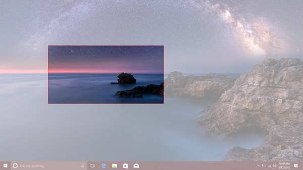 Screenshot specific area win10