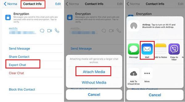 Eksportuj wiadomości WhatsApp na iPhone'a