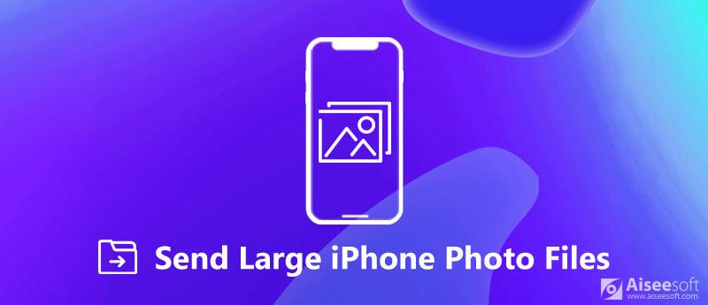 Invia file di foto di grandi dimensioni da iPhone