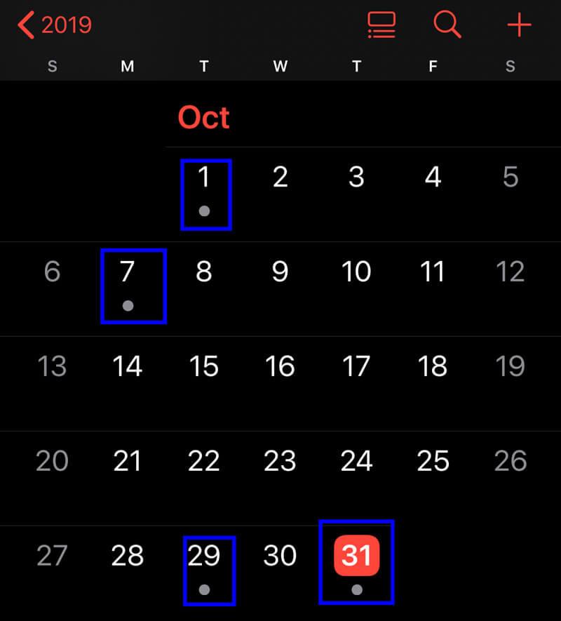 Apri il calendario