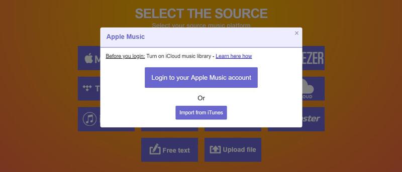 Seleziona Apple Music