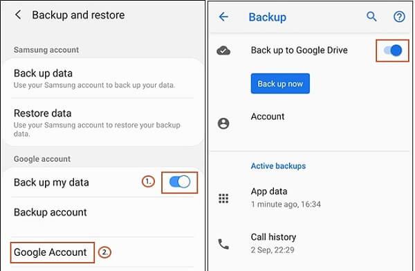 Δημιουργήστε αντίγραφα ασφαλείας στο Google Drive