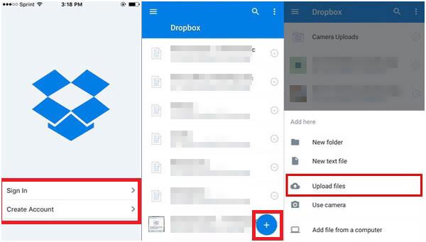 Ανεβάστε φωτογραφίες iPhone στο Dropbox