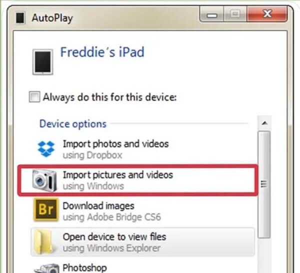 Importować zdjęcia