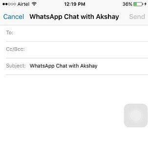 Trasferisci WhatsApp via e-mail
