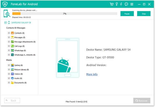 Ανάκτηση δεδομένων από τηλέφωνο Android